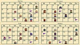 Stardew Calendar.Stardew Valley Spring Calendar Yahoo Image Search Results Games