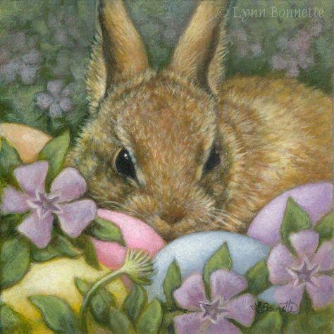 """Art by Lynn Bonnette: """"The Easter Bunny"""""""