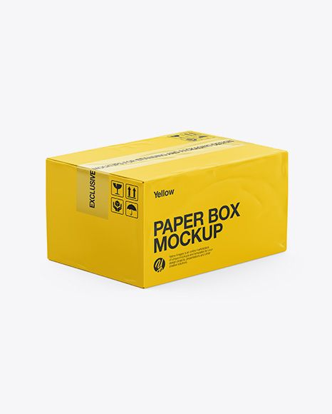 Download Paper Box Mockup Half Side View High Angle Shot In Box Mockups On Yellow Images Object Mockups Box Mockup Mockup Free Psd Psd Mockup Template