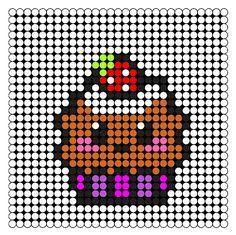 Miam Miam Des Cupcakes En Perles à Repasser Pixel Art
