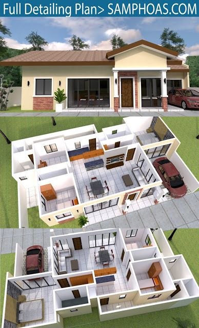 Pin By Fetiana On Outer Home View Bungalow House Design 3d Home Design House Design