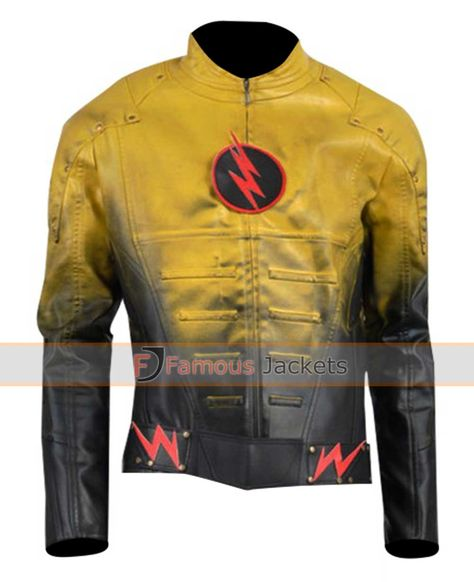 Replica Superhero Reverse Flash Jacket  #SuperheroCostume #ReverseFlashJacket