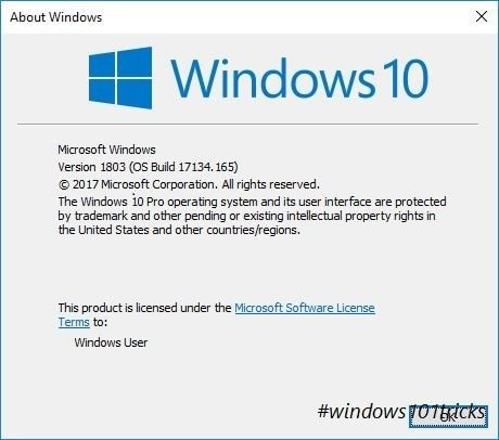 Windows 10 Build 17134 165 Cumulative Update Kb4338819 Change