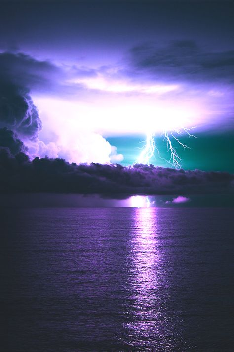 lightning and the ocean