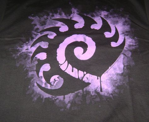 STARCRAFT II NEW ZERG LOGO T-SHIRT XL X-LARGE HEART OF THE SWARM FACTION TEE