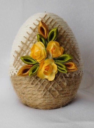 Pisanka Do Koszyczka Ozdoby Wielkanocne Rekodzielo 7838382139 Oficjalne Archiwum Allegro Egg Art Easter Projects Plate Decor