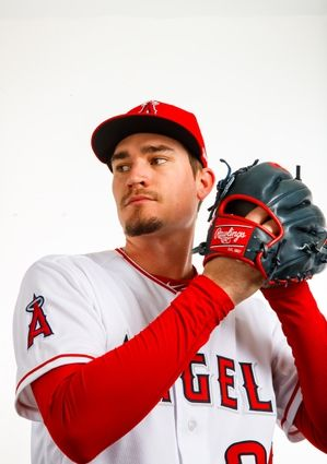 Los Angeles Angels Media Day Feb 22 2018 Tempe Az Usa Los Angeles Angels Pitcher Andrew Heaney Poses In 2020 Usa Today Sports Angels Baseball Los Angeles Angels