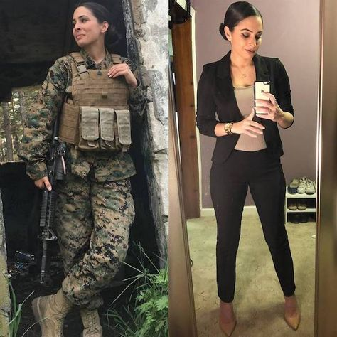 she can do both 26275780 532170647158200 2060617032495267840 n1 Beautiful badasses in (and out of) uniform (40 Photos)