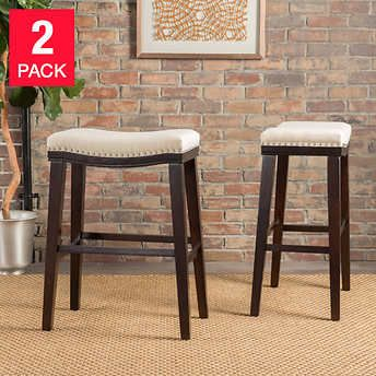 Kimi 26 Barstool 2 Pack With Images Bar Stools Backless Bar