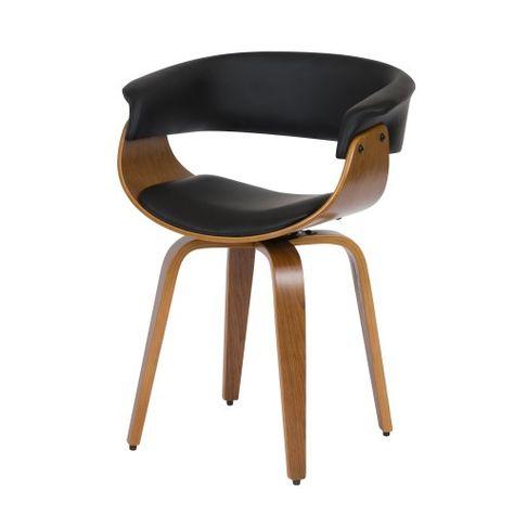 Chaise Noire Basile Avec Accoudoirs Chaise Noire Accoudoir Et Chaise