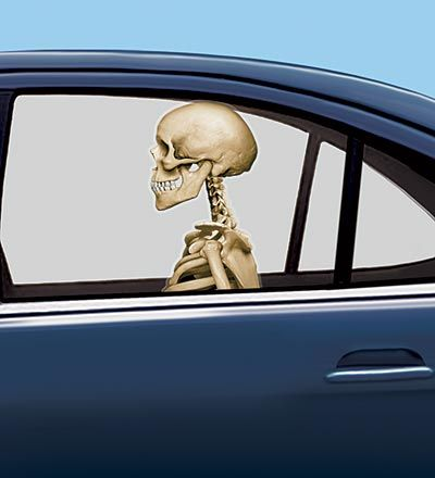 Set of 2 Skeleton Backseat Driver Car Cling Boo! Pinterest - luxury halloween decorations
