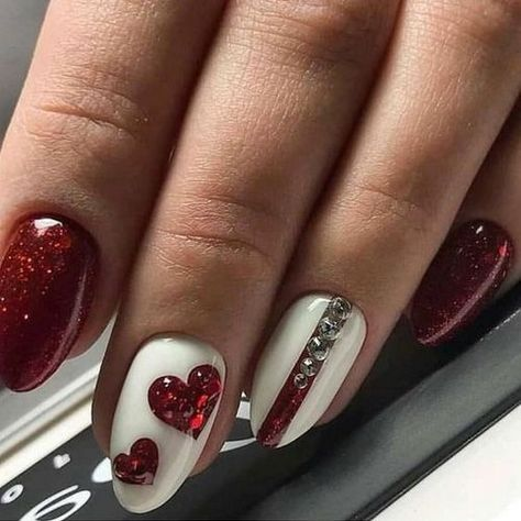 60+ Loveable Valentines Nail Art You Want to Copy
