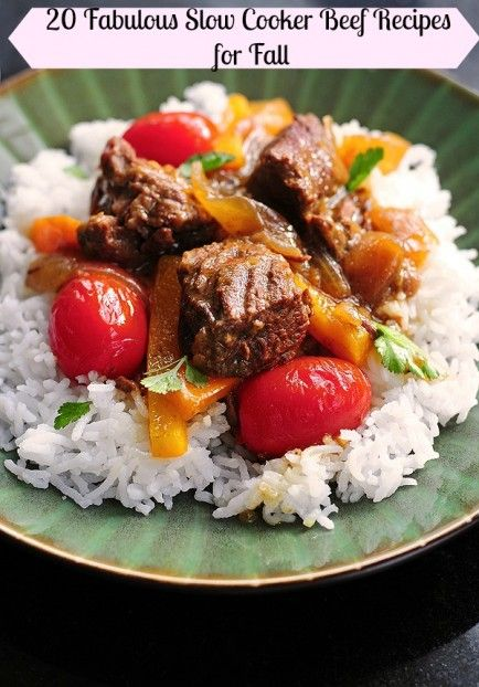 20 Fabulous Slow Cooker Beef Recipes for Fall