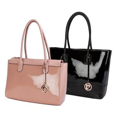 Pierre Cardin New Black Leather Hobo Bag Handbag miu51CTl
