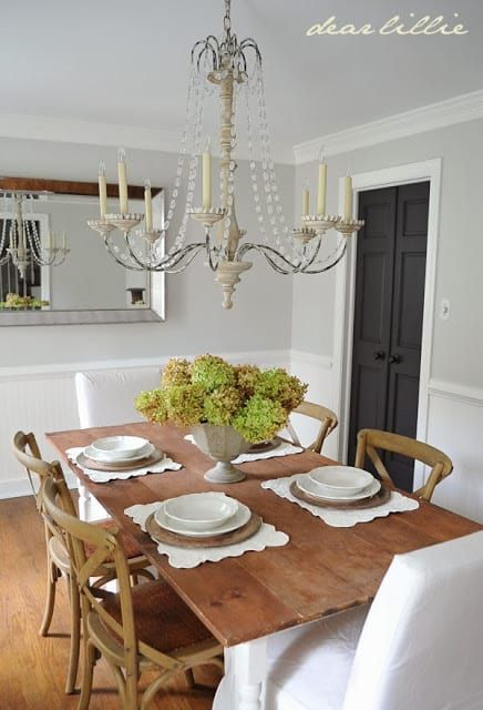 How To Hang Beadboard Wallpaper Why It S Better Than The Real Thing Dining Room Paint Colors Dining Room Design Country Dining Our dining room making progress