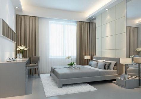 wohnideen schlafzimmer einfarbige gardinen mit einem passenden, Schlafzimmer entwurf