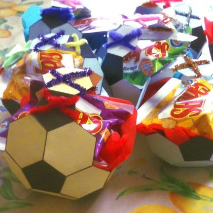 I modified my Polyhedral Nets applet to print out a template for a Soccer Ball Party Basket.