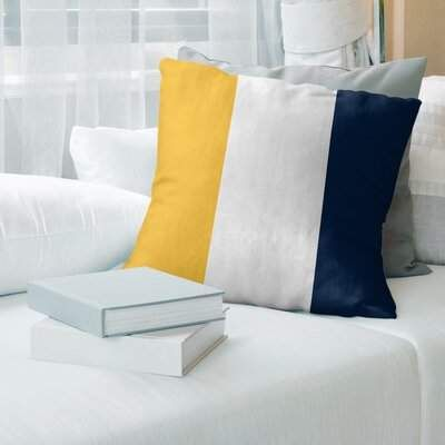 Nashville Hockey Striped Pillow Cover East Urban Home Color White Gold Blue Size 14 X 14 Sponsored Spons In 2020 Suede Pillows Pillows Football Throw Pillow