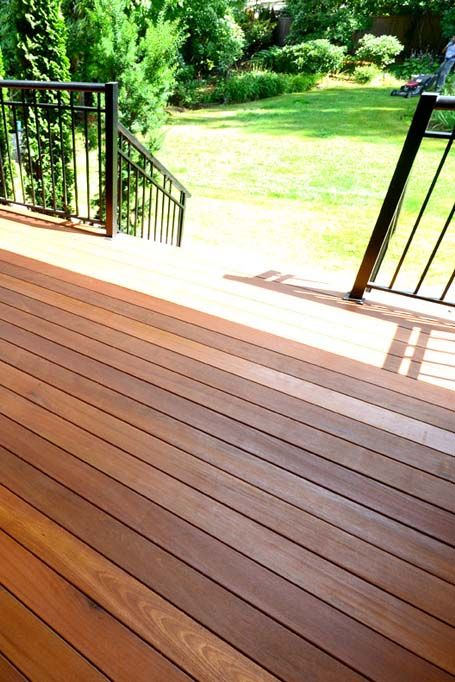 Wood Deck With Black Metal Railings Love The Way Black And Wood Look Together Great Deck Design For 2019 For More Deck Pics Building A Deck Deck Diy Deck