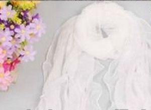 White chiffon scarf