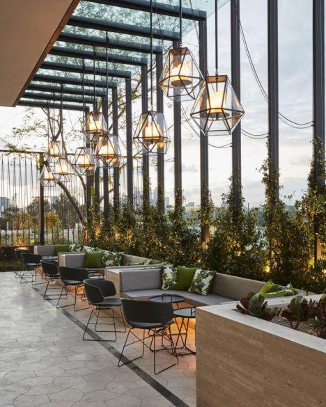 A Splendid Hotel In Lake Garda Holds The Most Delightfull Lamps Unique Blog Hotel Inter In 2020 Bar Design Restaurant Restaurant Interior Design Outdoor Restaurant