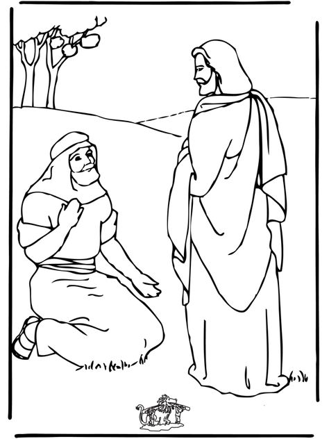 Jesus Heals A Blind Man Coloring Page Coloring Pages Bible