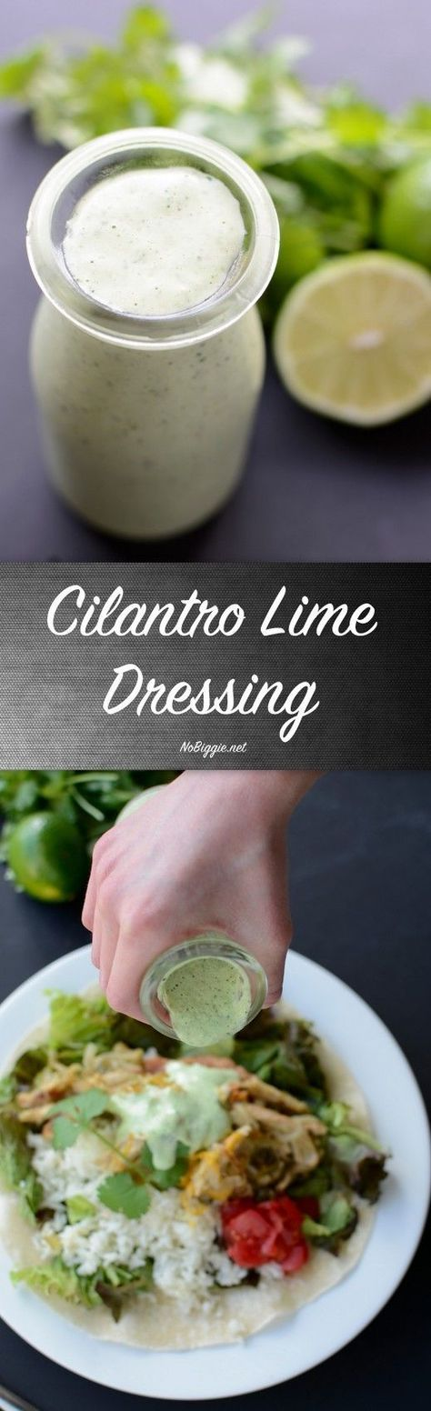 Creamy Cilantro Lime Dressing - a must have dressing that will liven up your salads. #cilantro #creamydressing #cilantrolimedressing #saladdressing