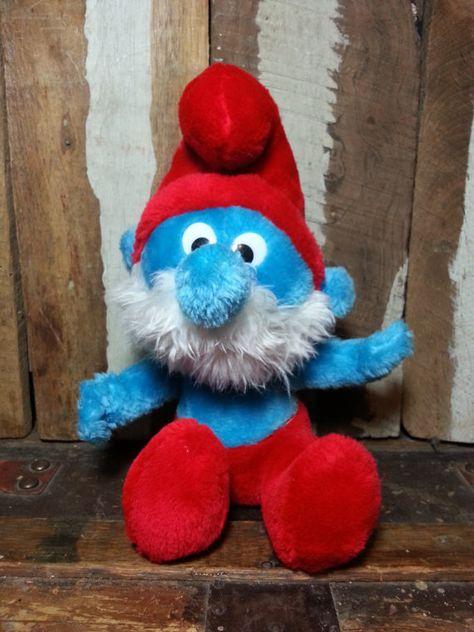 Build a Bear Papa Smurf The Smurfs Movie II 17 in Stuffed Plush Animal Toy Doll