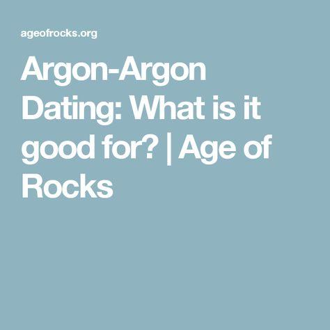 a brief description of argon dating