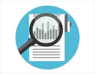 Data Analysis Vector Illustration Flat Design Style