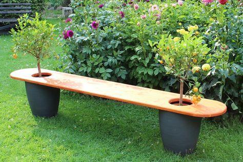 Gartenbank mit Bäumchen Bauanleitung zum selber bauen