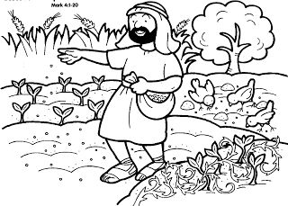 Parable Of The Sower Week 3 Jesus Coloring Pages Bible