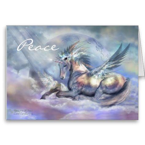 Unicorn Of Peace Holiday ArtCard