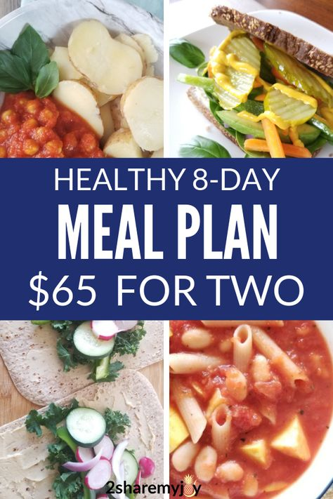 8 Day Plant Based Meal Plan On A Budget Vegan Meal Plans