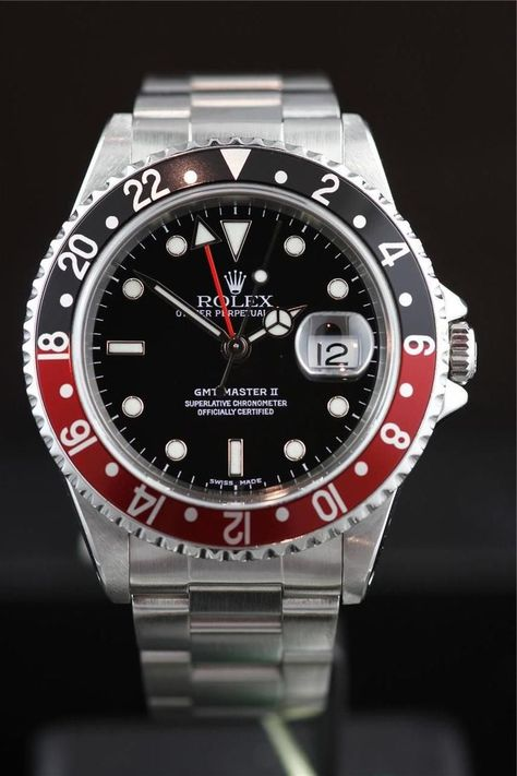 Watches Ideas     GMT Master II 16710LN Coke Bezel.  Discovred by : Todd Snyder  #Watches