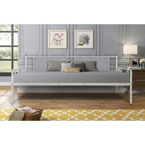 Triple Tree Contemporary Upholstered Daybed, Full/Twin, White/Gray - Walmart.com