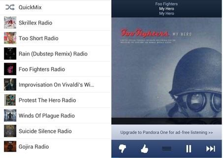 Pandora One Apk is best music app no ads for Android device