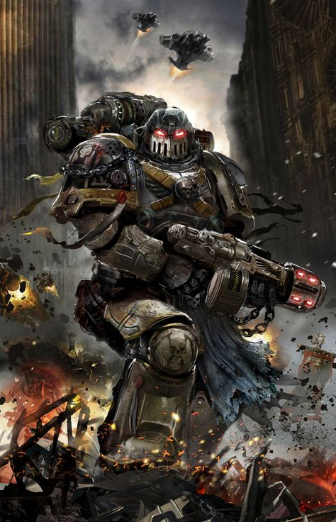 """yahuaa: """"more-souls-to-feast-upon: """" yahuaa: """" redskullsmadhouse: """" Pre-Heresy Deathguard by uncannyknack """" Can you imagine the awe inspiring magnificence to have seen them in our time of..."""