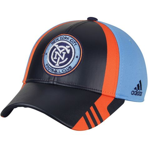02f742e1 Men's New York City FC adidas Navy Authentic Team Structured Adjustable Hat,  Your Price: $25.99