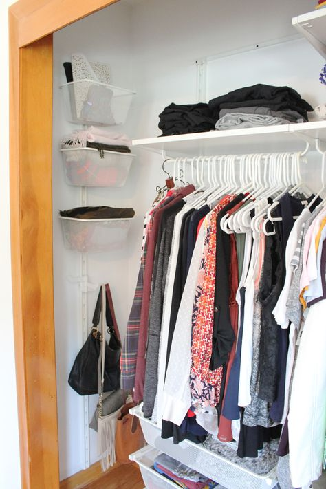 How To Organize A Small Closet For Maximum Storage Space Laundry