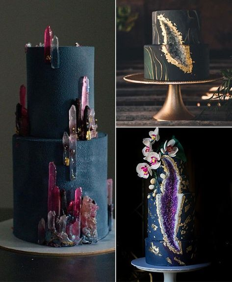 fancy wedding cakes Geode Wedding Cakes On Your Big Day -