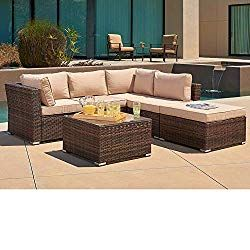 Suncrown Outdoor Furniture Sectional Sofa 4 Piece Set All Weather