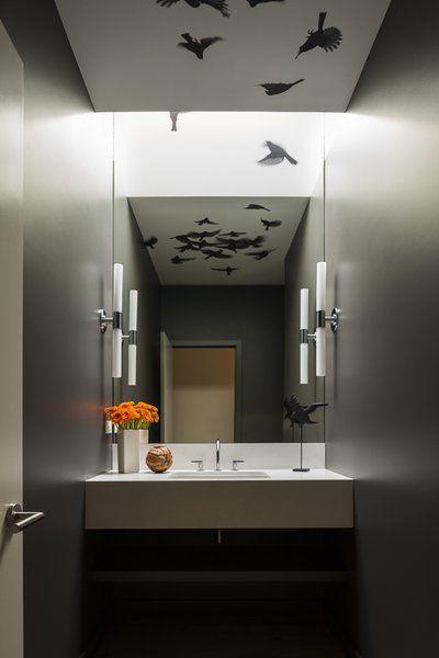 High Desert Modern Modern Powder Rooms Seattle Interior Design Luxe Interiors