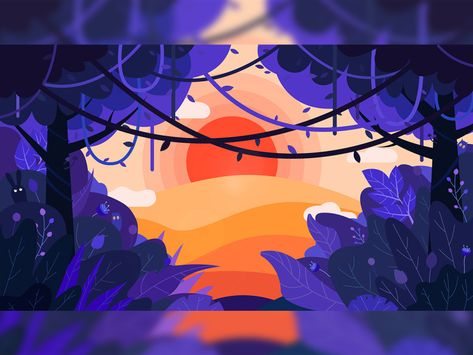 sunkissed forest