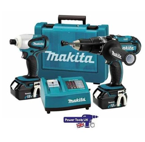 Lxt202 Makita Power Tool Kit From Power Tools Uk Http Www Powertoolsuk Co Uk Makita Lxt2 2 18v 2pce Power Tool Kit 2 X 3ah Li Carpinteria Herramientas Luis