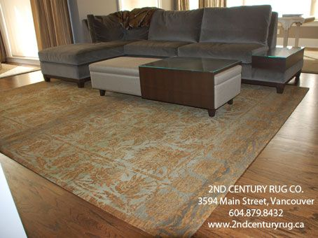 Wool And Silk Area Rug By Tamarian