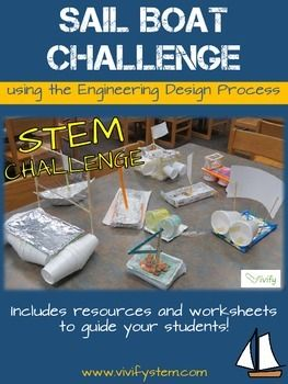 The Sailboat STEM activity is a great way to incorporate the engineering design process into your classroom!