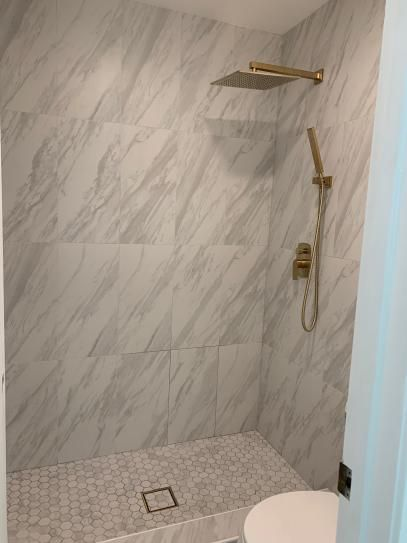Installed In Shower Floor And Wall Tile Wall Tiles Porcelain Flooring