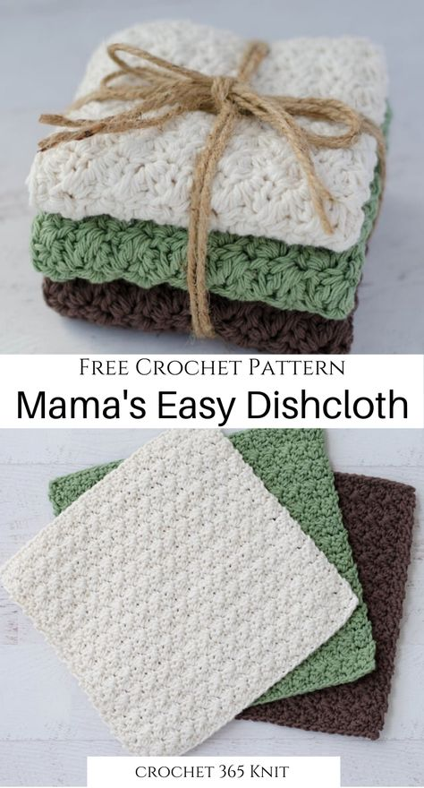This crochet dishcloth is super fast and easy to make The perfect thing to jazz up your kitchen right now crochet freecrochet easycrochet funcrochet freecrochetpattern crochetpattern crochetdishcloth mamaseasydishcloth kitchencrochet Fast Crochet, Crochet Simple, Crochet Home, Learn To Crochet, Crochet Gifts, Easy Things To Crochet, Simple Crochet Blanket, Easy Crochet Projects, Yarn Projects