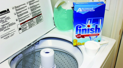 Miracle Laundry Whitening Solution     HOT HOT HOT water     1 cup of laundry detergent     1 cup powdered dish washer detergent     1 cup bleach     1/2 cup borax
